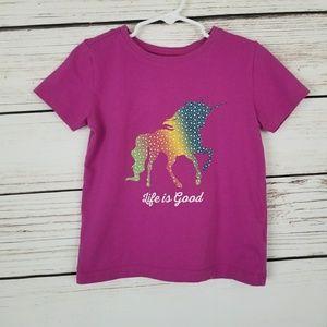 Life is Good Unicorn Toddler Shirt Top